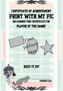 Football Certificate Templates To Print  Printable Sports Awards