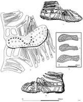 How-to of construction:  inner sole, middle portion, outer sole.  This was the standard of caligae construction