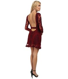 Crimson red, open-back dress from For Love and Lemons.  dresses   04c8e7c75a6