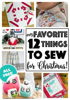 Most recent No Cost Sewing gifts for christmas Style 12 Favorite things to Sew for Christmas - all free sewing patterns and tutorials! Christmas Sewing Projects, Diy Sewing Projects, Sewing Projects For Beginners, Sewing Hacks, Sewing Tutorials, Sewing Tips, Sewing Ideas, Christmas Sewing Gifts, Holiday Gifts