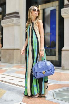 Pin for Later: 150+ Looks to Inspire Your Best Dressed Summer Yet  This abstract dress had us dreaming of watercolors.