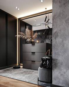 Hall Interior Design, Contemporary Interior Design, Home Interior, Home Decor Furniture, Furniture Design, Entrance Hall Decor, Grey Bedroom Decor, Dressing Room Design, Internal Design