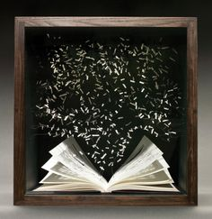 A Bibliophile's Defense of Physical Books | The New Republic, April 19, 2015.  This is the best essay I've ever read about why we need physical books, and why they will never be completely replaced by e-books.  Artwork pictured: Su Blackwell, The Book of the Lost, 2011