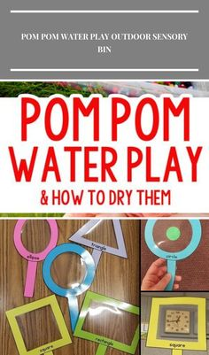 Pom Pom Water Play: an easy outdoor activity; backyard play from Busy Toddler toddler activity Pom Pom Water Play Outdoor Sensory Bin Summer Activities For Toddlers, Water Activities, Toddler Activities, Outdoor Activities, Backyard Play, Outdoor Play, Water Play, Sensory Bins, Nursery Decor