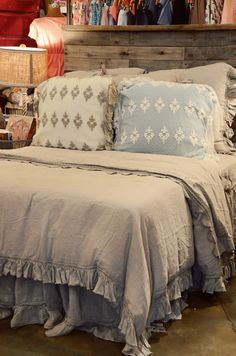 Bella Note Bedding--love the euro shams and bedskirt!  I bet the linen sheets are awesome too!