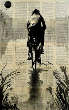 Drawing with pen and ink by Loui Jover