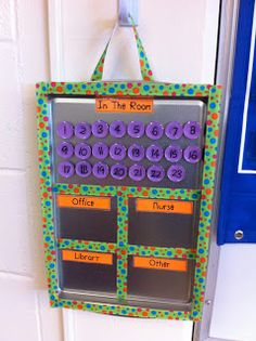 Classroom management. This is actually a really cool idea. It would really help during study hall attendance when 6 kids came to you with a note to go to another class!