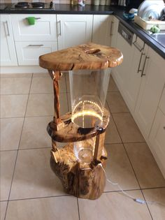 Aquarium 20 L made out of Glass vase and fallen holly tree handcraft