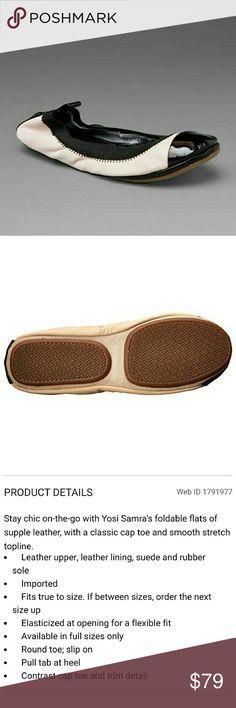 Yosi Samra Cap Toe Foldable Flats Yosi Samra Cap Toe Foldable Flats . New in gift box w/ dustbag.   No Trade or PP  Bundle discounts  Offers Considered Yosi Samra Shoes Flats & Loafers