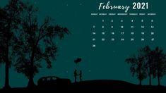 February 2021 Calendar Desktop Wallpaper Background Download