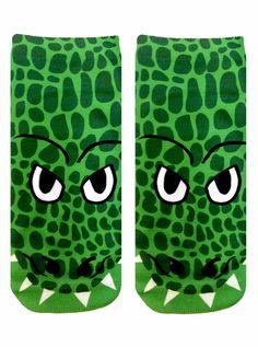 Crocodile Ankle Socks