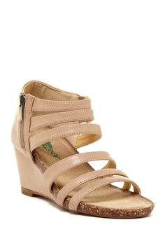 Short wedge sandals
