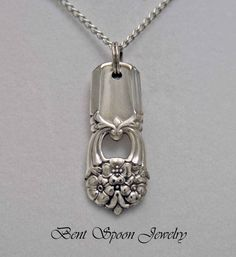 Spoon Jewelry, Spoon NECKLACE Pendant, Silverware Jewelry, Antique Necklace This Handmade silver plated necklace has been created from a Silver Spoon Jewelry, Fork Jewelry, Silverware Jewelry, Metal Jewelry, Jewelry Art, Jewelry Crafts, Beaded Jewelry, Handmade Jewelry, Jewelry Design