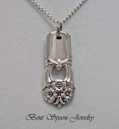 Spoon Jewelry, Spoon NECKLACE Pendant, Silverware Jewelry, Eternally Yours 1941