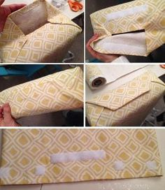 Cushion Slip Covers make long pillow case type covers with velcro hmmm by Joao.Almeida.d.Eca