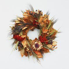 Sun Bleached Cardoon Wreath | Fall Wreaths at Terrain