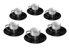 Damien Hirst, For the Love of God anamorphic cups and saucers – Box Set of 6