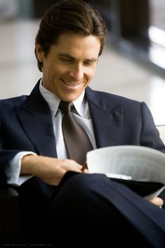 Christian Bale as Bruce Wayne in The Dark Knight. Sigh. (Again, not really for Christian Bale, just the character.)