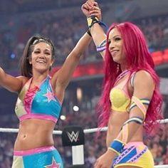 Bayley & Sasha Banks at WWE Battleground