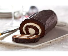 Chocolate cake roll - made this today and it was wonderful! Everyone loved it!