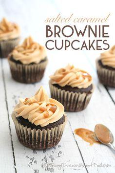 Low Carb Salted Caramel Brownie Cupcake Recipe #sugarfree #grainfree