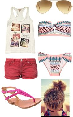 """""""Bikini :)"""" by cher-twilight ❤ liked on Polyvore"""