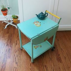 My latest find... this child's Amsco TV Cart!