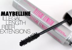 (Rating: Maybelline Illegal Length mascara in Very Black. One of my favorite drugstore mascaras for length. The bristles are stiff so they really separate lashes and make them look good. Drugstore Mascara, Mascara Tips, Best Mascara, How To Apply Mascara, Drugstore Beauty, Maybelline, Blush Dupes, Cool Makeup Looks, Fiber Mascara