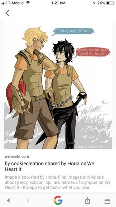 Does anyone else realize that Nico isn't wearing black<<<only the camp half blood t-shirt which is normal Percy Jackson Ships, Percy Jackson Fan Art, Percy Jackson Memes, Percy Jackson Books, Percy Jackson Fandom, Percabeth, Solangelo, Rick Riordan Series, Rick Riordan Books