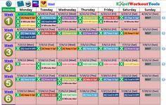 slim in6 calendar | Slim in 6 « Excel Workout Tools