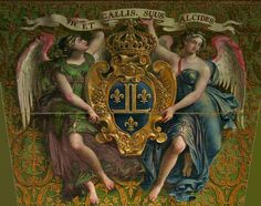 Cartouche with angels