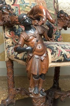 Andrea Brustolon, Highchair, hilt Venier, ca 1690 Goldscheider, Turkey History, Baroque Furniture, Italian Baroque, Renaissance Era, African History, African Art, Black History, European History