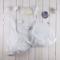 ☼ we dream in colours borrowed from the sea ☼ our lace bralettes {handmade with ♡} are now on etsy! | link in bio | #betweendreams