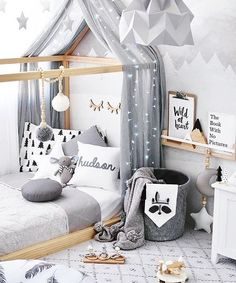 """Mi piace"": 15, commenti: 4 - Lacy Hendricks (@lacyhendricks.realtor) su Instagram: ""Love how cozy this toddler boy's room is. Minimal decoration, yet so adorable!⠀ ⠀ #boysroom #gray…"""