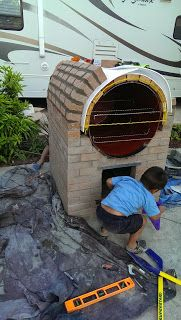 MakerMonkey: The Pizza Oven Build A Pizza Oven, Diy Pizza Oven, Pizza Oven Outdoor, Outdoor Kitchen Bars, Pizza Ovens, Outdoor Grill Area, Outdoor Stove, Wood Fired Oven, Wood Fired Pizza