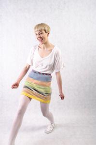 all knitwear for dagmar rousset - multi stripe mini