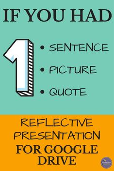 Encourage student self-reflection and build classroom culture with this interactive presentation for Google Drive. Students design slides in a collaborative Google Slide presentation, choosing one sentence, picture, and quotation to represent personal identity and values. Then, they use speaking skills to present them to the class. Great as a back-to-school or stand-alone speaking activity!