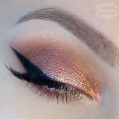 Sparkling fall makeup