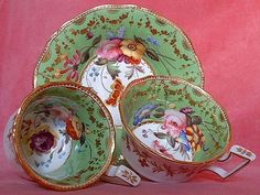 John Rose Coalport Old English Shape Trio c.1825