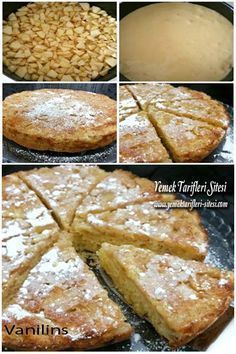 This Pin was discovered by Har Sweet Recipes, Cake Recipes, Snack Recipes, Pasta Cake, Sweet Cookies, Recipe Mix, Pudding Cake, Apple Desserts, Turkish Recipes