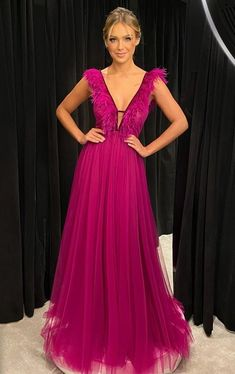Orange Bridesmaid Dresses, Pink Party Dresses, White Wedding Dresses, Tulle Prom Dress, Dress Up, Prom Dresses, Vestidos Color Fucsia, Special Occasion Dresses, Evening Dresses