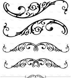 Scroll and ruleline design stock vector art 2663151 - iStock