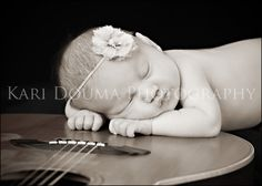 Grand Rapids Newborn Photography - love the set with the guitar