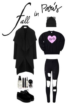 """Psycho in Paris"" by darklady028 on Polyvore featuring moda, Harris Wharf London, Bobbi Brown Cosmetics, Silver Spoon Attire y WithChic"