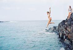cliff jump!