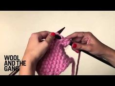 ▶ How To Knit The Linen Stitch - YouTube