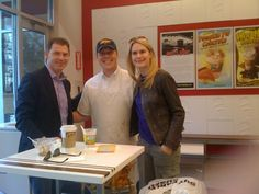 Bobby Flay & Stephanie March at Andy's by Andy's Frozen Custard, via Flickr