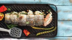 Roasted Stuffed Salmon with Tre Stelle® Ricotta and Feta Cheese Ricotta, Stuffed Salmon, Main Dishes, Side Dishes, Cooking Twine, Italian Night, Thing 1, Entree Recipes, Baby Spinach