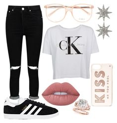 """""""Untitled #154"""" by xcastielx on Polyvore featuring Boohoo, Chloé, Calvin Klein, Kate Spade, adidas, Bee Goddess and Lime Crime"""