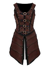 Elfenkriegerin Lederrüstung braun  #brown #elves #leather #larp #female